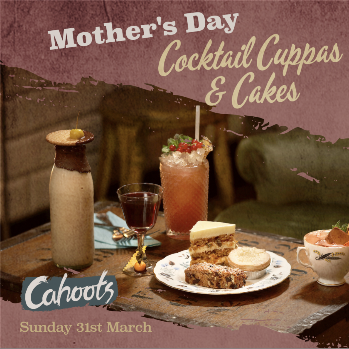 Mother's Day Cocktail Cuppas & Cakes